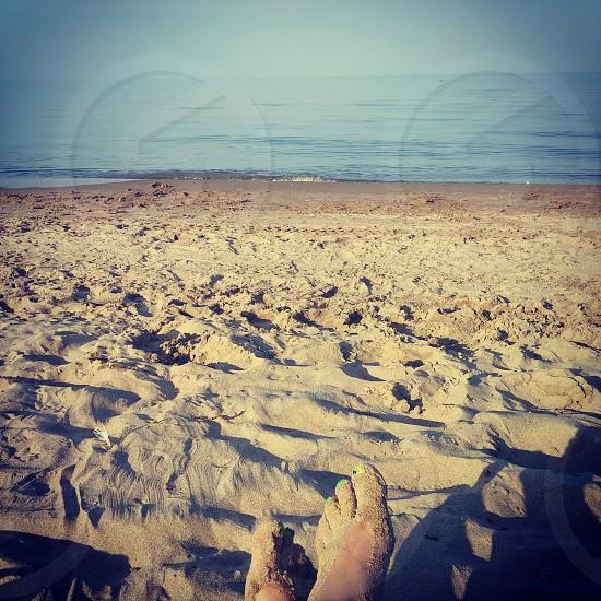 beach bumming perspective photo