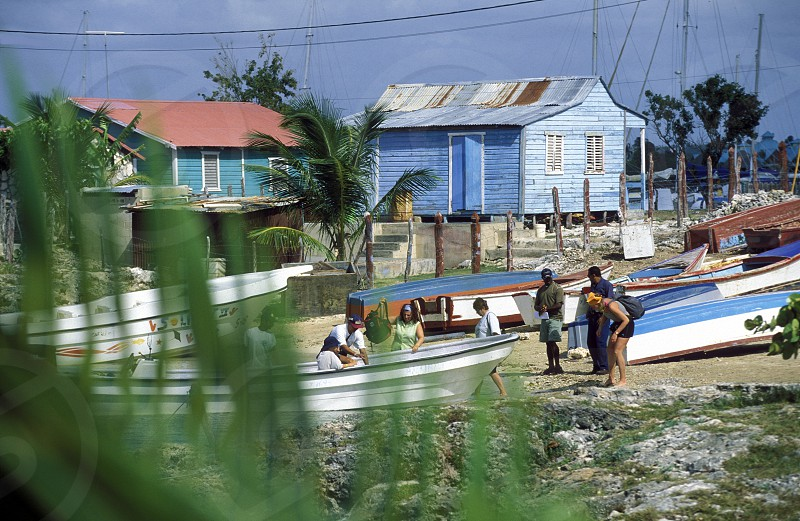 the Village of  Bayahibe in the Dominican Republic in the Caribbean Sea in Latin America. photo