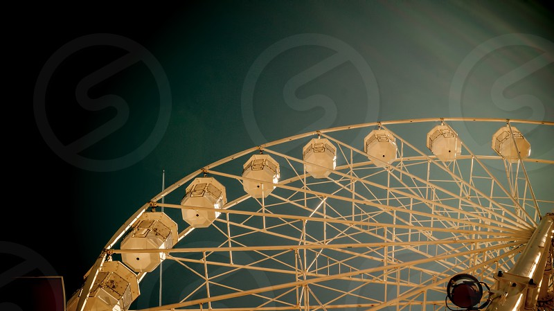 Giant ferry wheel at - famous amusement park in Minehead UK photo