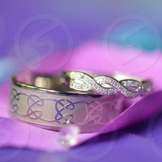 Wedding rings at a wedding photo
