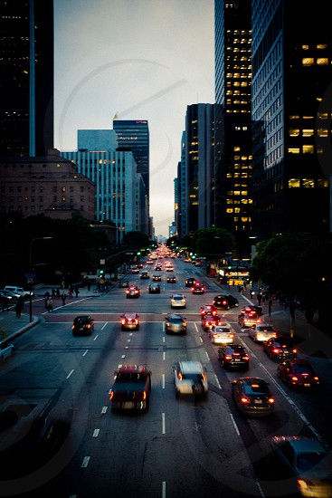 Quitting time in Downtown Los Angeles photo