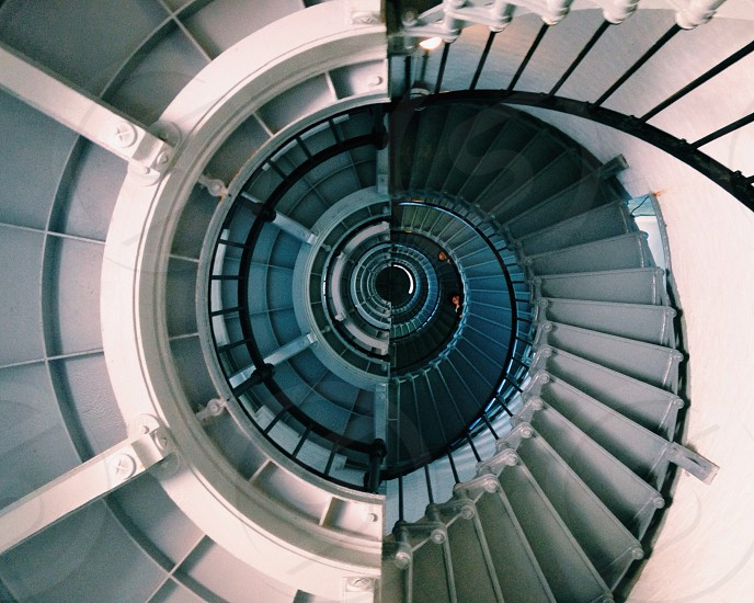 spiral view of staircase photo