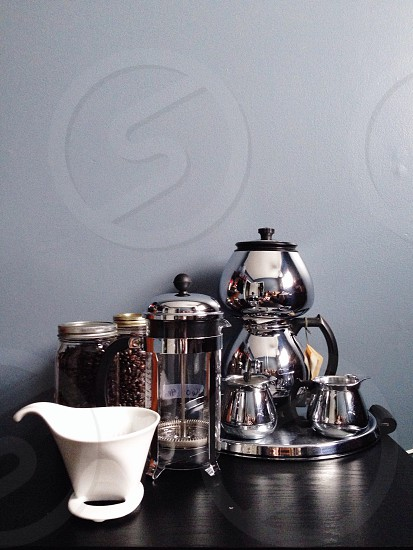 silver french press photo
