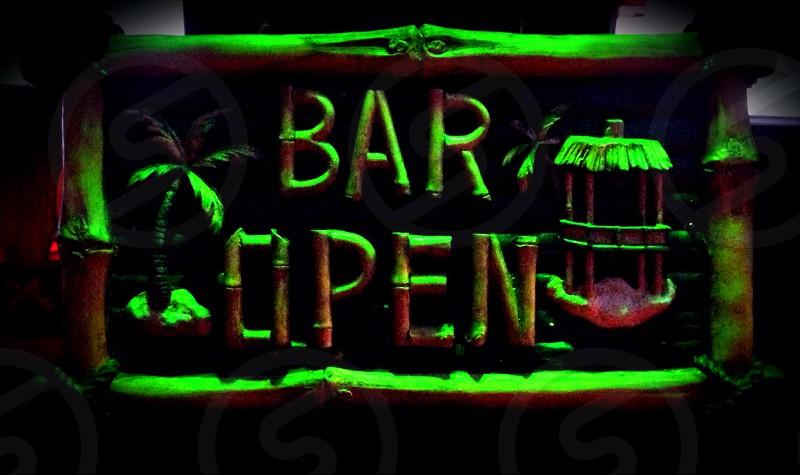 Bar lighting tiki photo