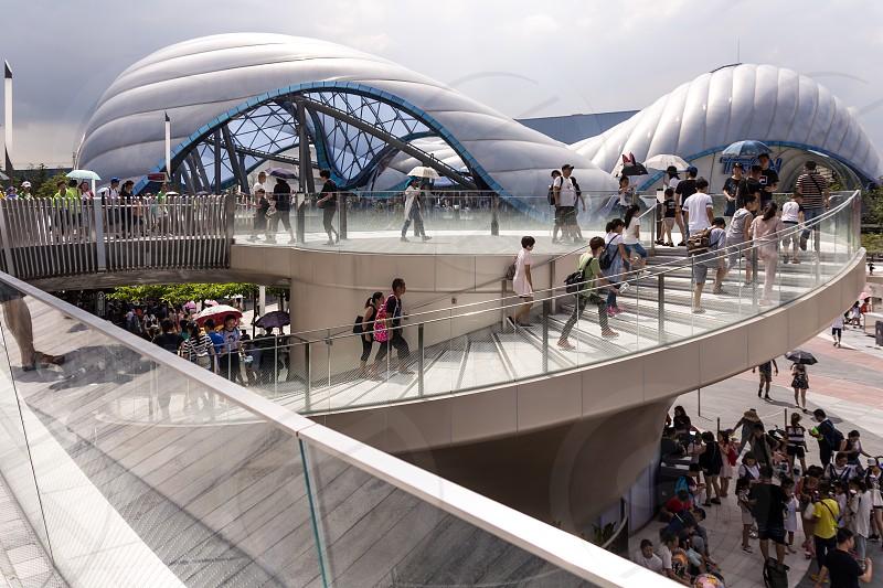 Shanghai Disney Resort futuristic area photo