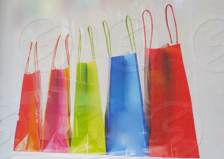 neon rainbow gift bags       photo