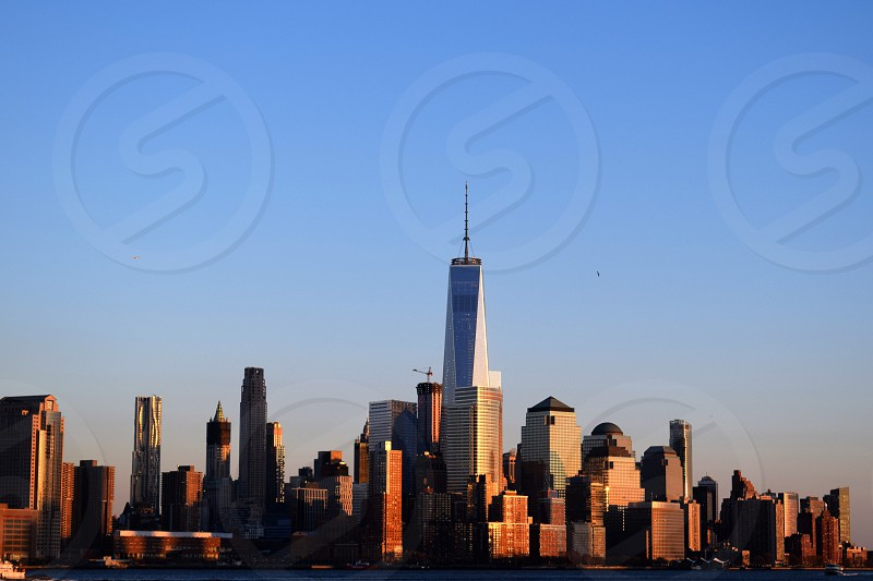 View of World Trade Center from Hoboken  photo
