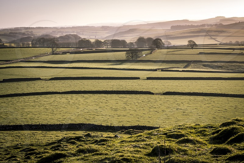 A peaceful countryside scene in the Peak District. photo