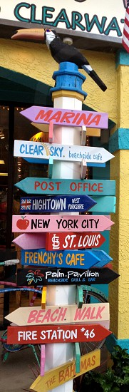 assorted-color multi-street signage photo