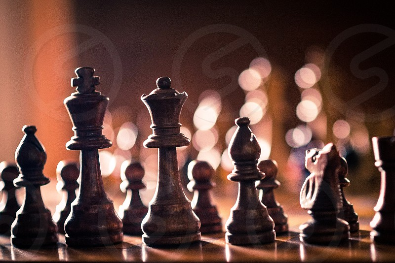 Old grandpa chess set photo