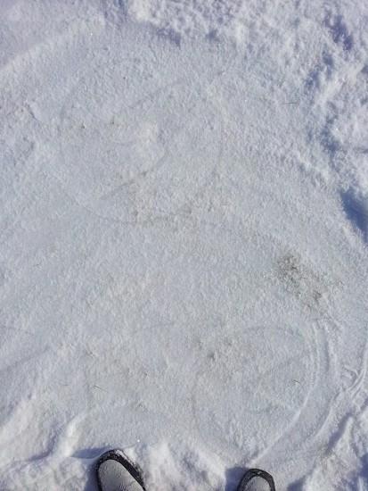 Snow on top of ice - Northern Kentucky Winter photo