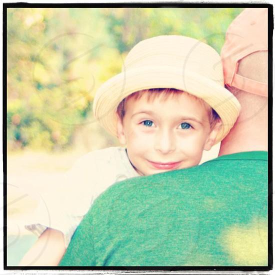 Spring pastels colors greens vibrant kids smiles  photo