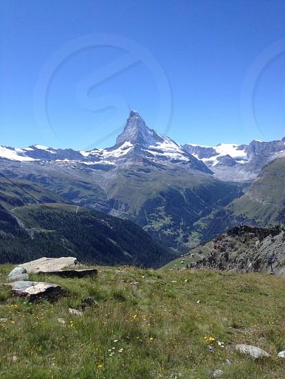 The Matterhorn in mid summer  photo