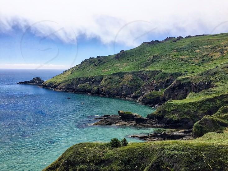 Mountain Shore Landscape photo
