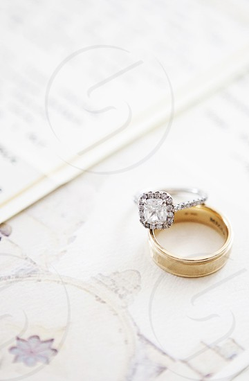 rings wedding love details photo