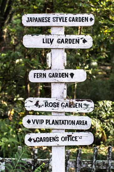 Garden sign photo