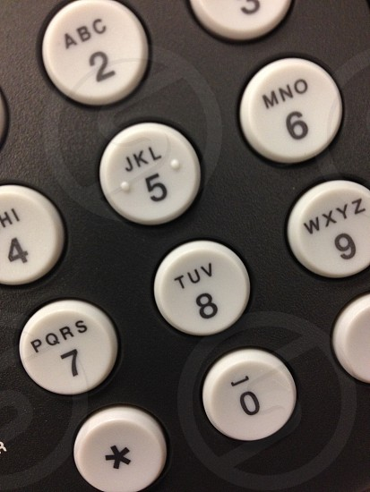 black and white telephone dial button photo