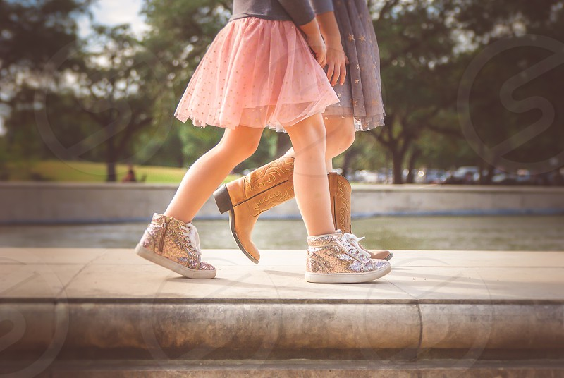 Girls and shoes photo