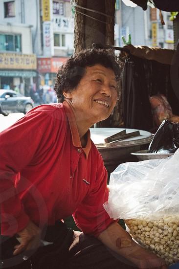 Seoul street vendor photo