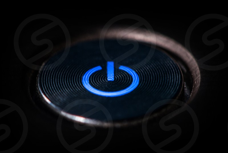 Start button with blue light photo
