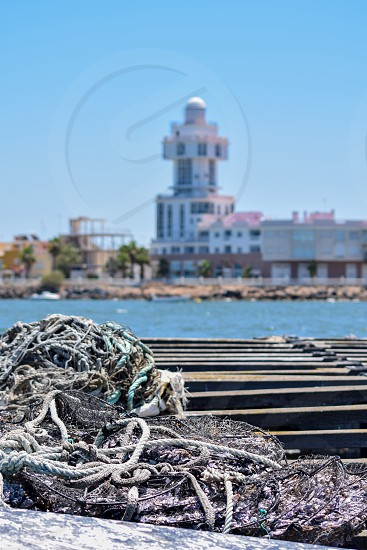 A shot of a lighthouse in Ayamonte Spain photo