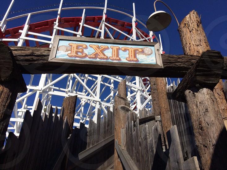 Ride exit photo