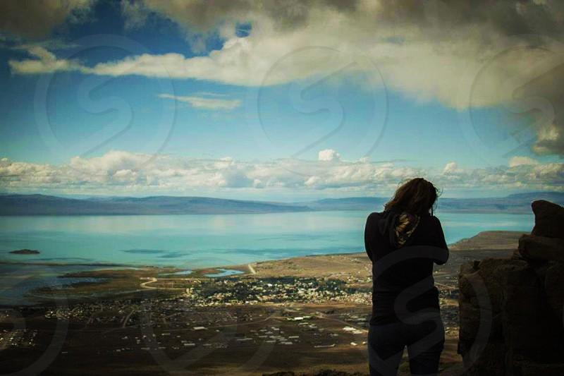 blue skyline photo