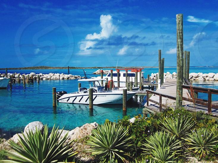 Bahamas Castaway Cay Boats Marina Water Caribbean Blue Sky Tropical VSCO photo
