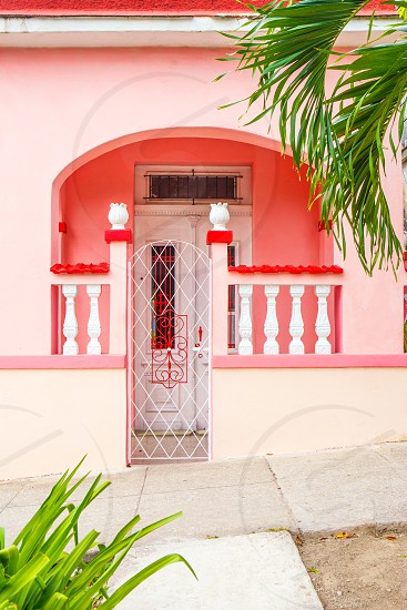 Entry to a colorful home in Cuba photo