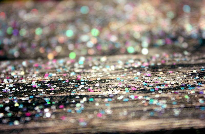 glitter on wood photo