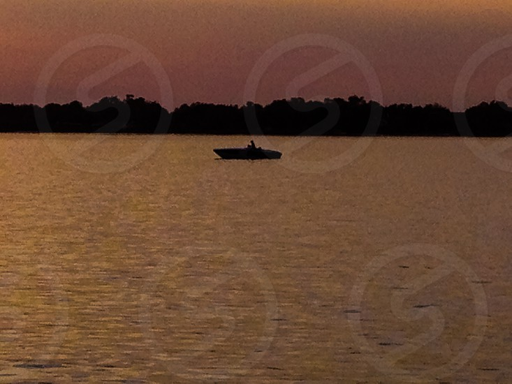Boat on a Lake  photo