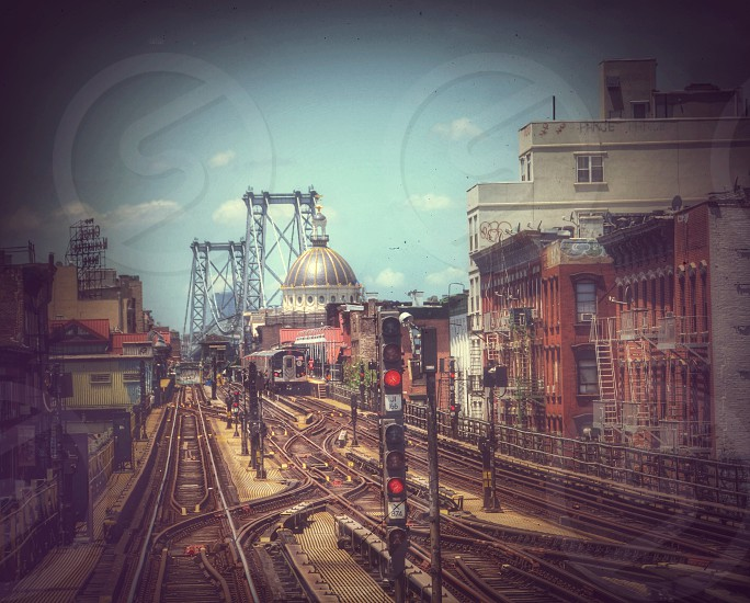 brown railroad photo