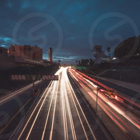 expressway night photography photo
