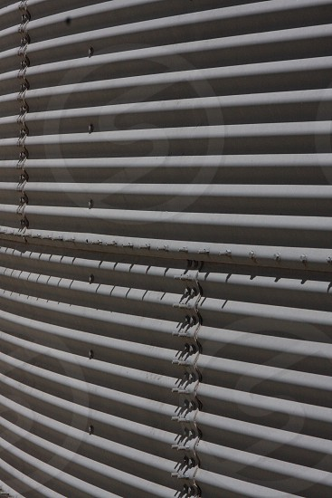 Silo metal patterns.  photo