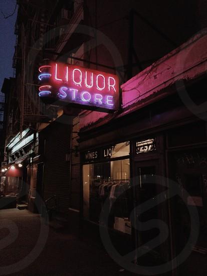 liquor store neon sign photo