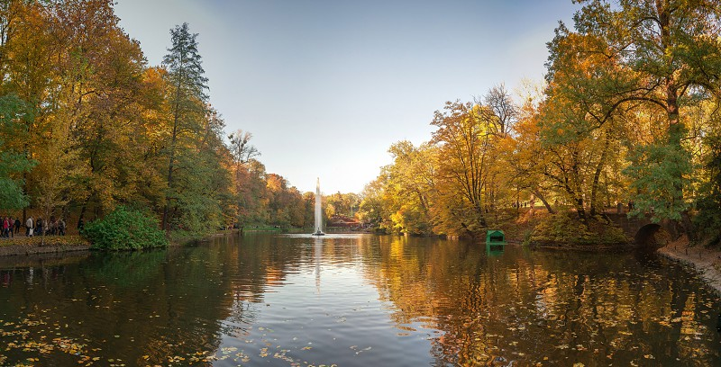 Uman Ukraine - 10.13.2018. Beautiful autumn in Sofiyivka park in the city of Uman Ukraine photo
