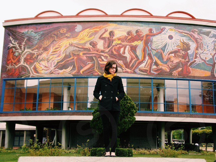 Mexico Art modernism architecture girl photo