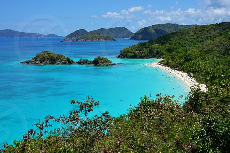 Trunk Bay in the Virgin Islands National Park in St John USVI photo
