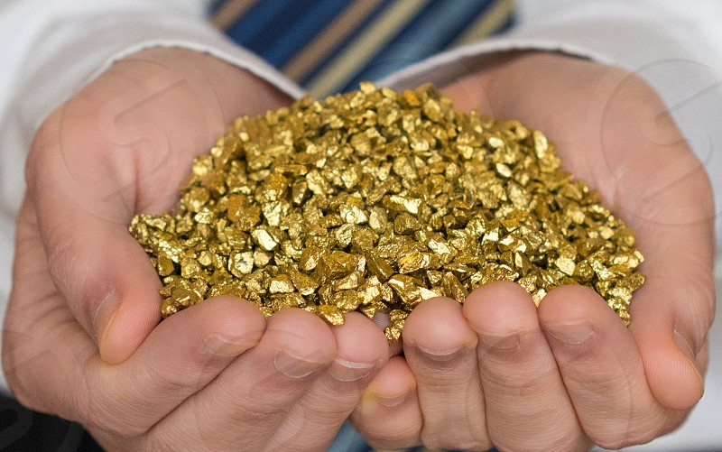 close up gold nuggets photo