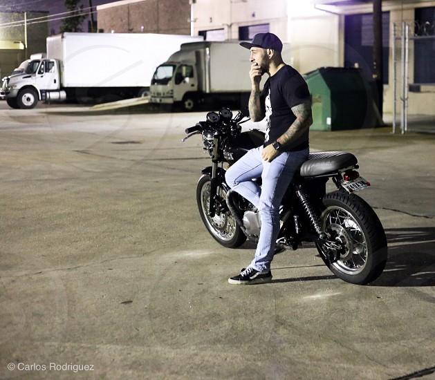 Motorcycles triumph riding around photo
