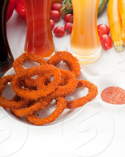 deep fried calamari rings served with selection of blackred and blonde beer MORE DELICIOUS FOOD ON PORTFOLIO photo