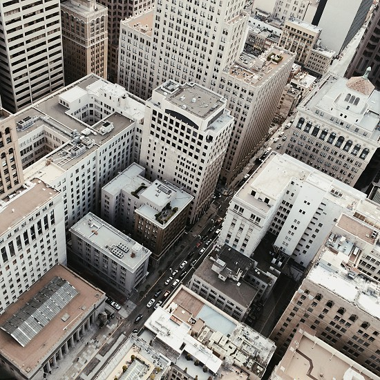 white high rise buildings aerial view photo photo