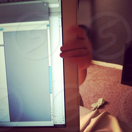 laptop turned on photo
