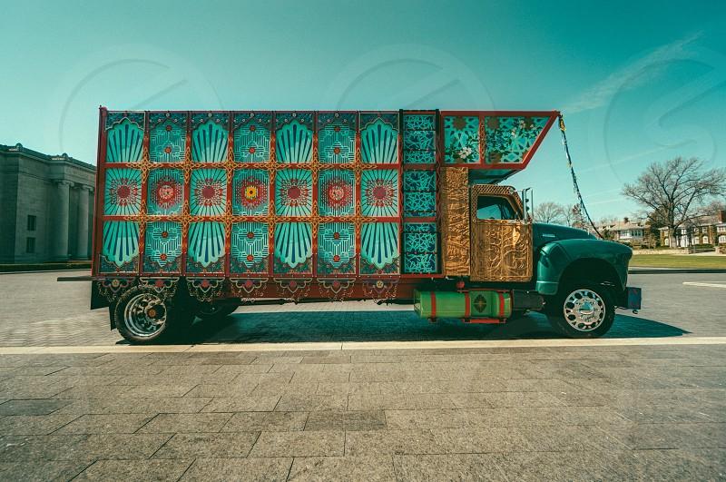 light green truck photo