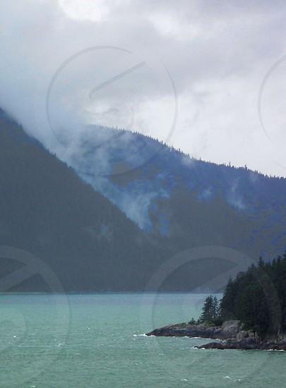 white fog on mountain photo
