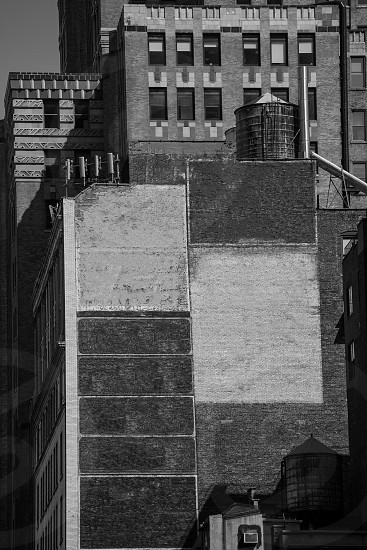 Fift avenue aged brick wall 5 th Av New York Manhattan USA photo