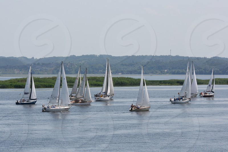 Boating outdoor activity lifestyle water sailing yacht  photo
