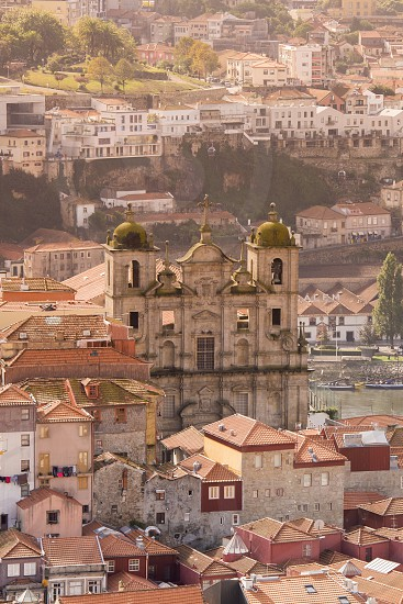 a church in the old town of  ribeira in the city centre of Porto in Porugal in Europe. photo