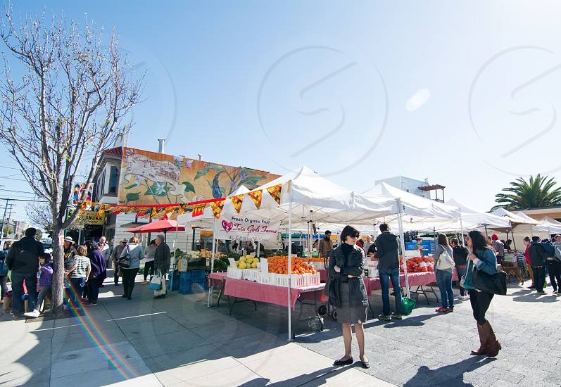 Farmer's market in town square on Saturday mornings photo