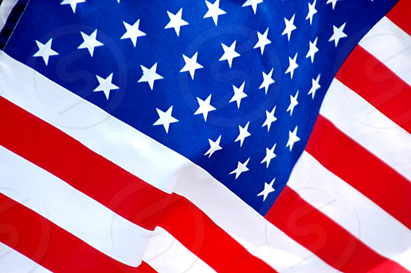 Close up of an American flag photo